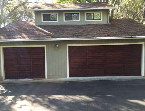 Garage door Stain Project