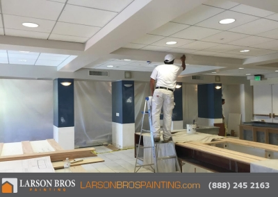 commercial interior painting project