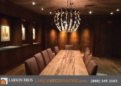 coppola interior wall and cabinet staining project