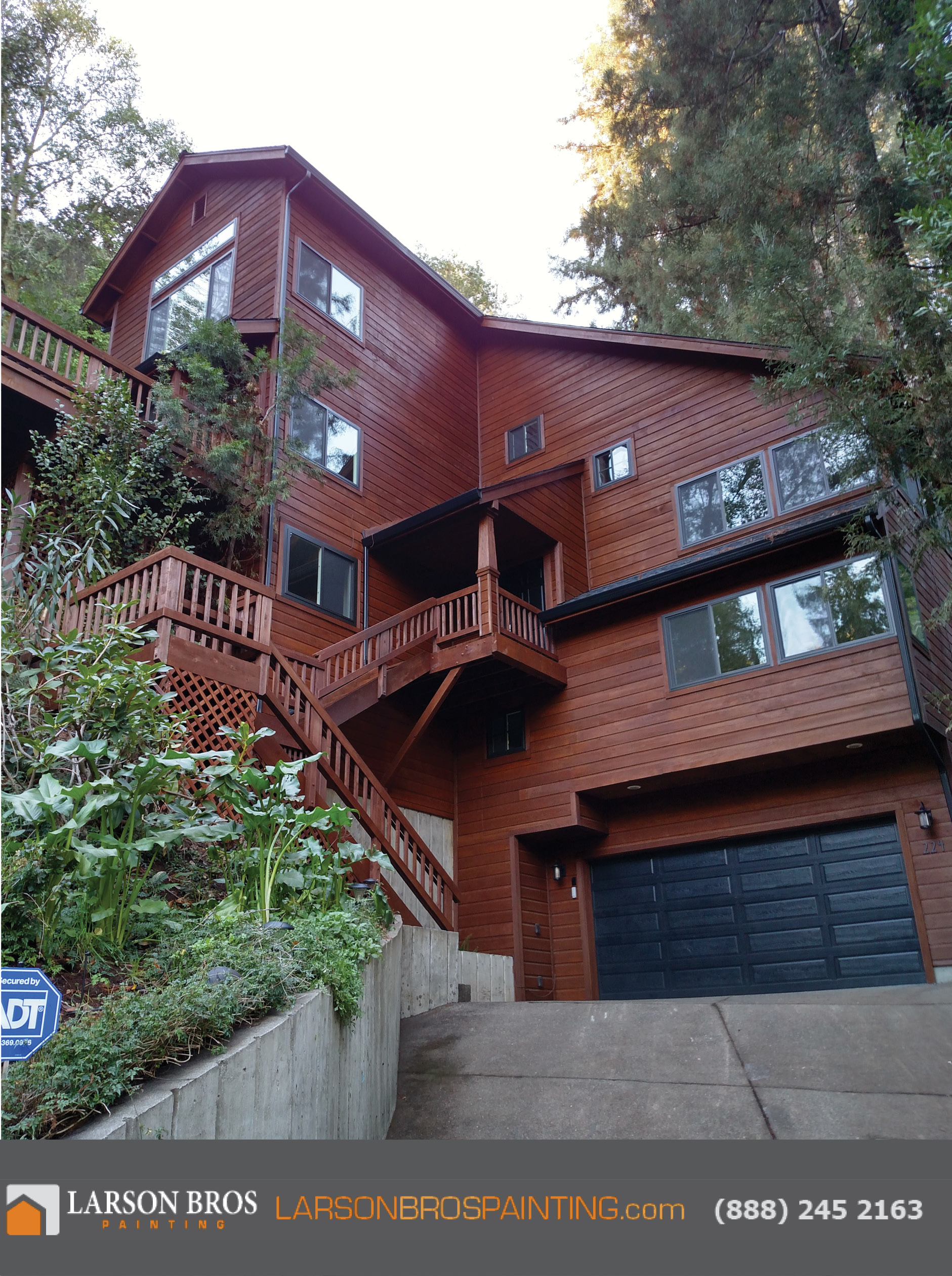 Exterior Stain Project in San Rafael