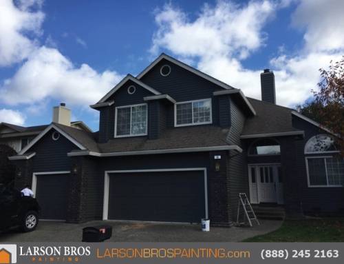 2 story exterior Paint Project, Dark Gray