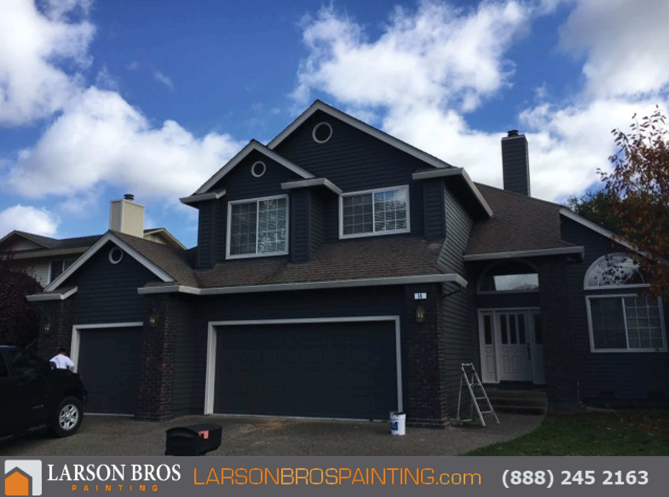 Exterior archives larson bros painting - How to paint a 2 story house exterior ...