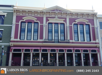 exterior painting project at napa opera house
